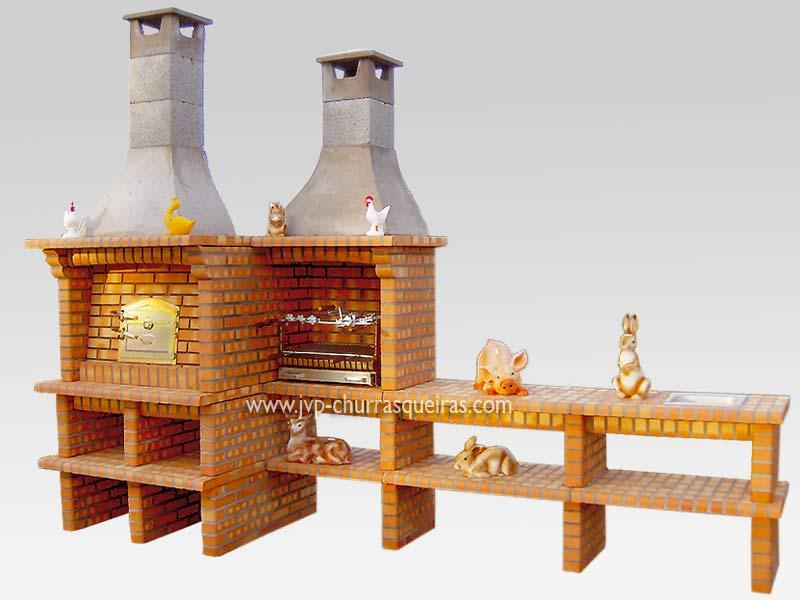 Churrasqueira 6, Fabricantes, Churrasqueiras em Tijolos, Barbacoas de Obra, Barbecues, Muratura, Tijolo, Grill
