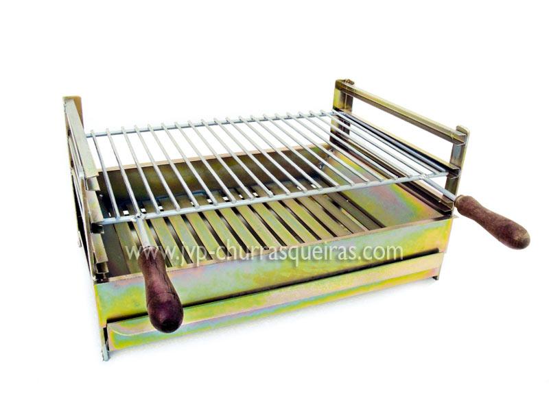Grelhador de ferro zincado com grelha, Grelhadores, ferro zincado, grelhas, 50X40cm, grelhadores para churrasqueiras, Grelhas para churrasqueiras, grelhadores de churrasco, Grill