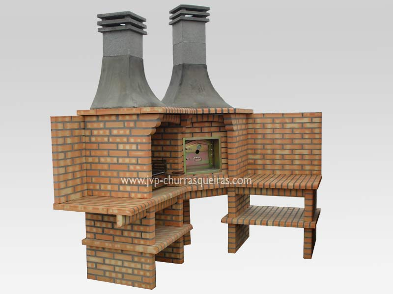 BBQ Grill 118, BBQ Ovens, BBQ with Oven, Manufacture Garden Brick Barbecue Grill, BBQ in refractory bricks, Brick barbecues Grill, BBQ, churrasqueiras, Outdoor Barbecue Grill, charcoal barbecue grill, outdoor barbecue grills, charcoal grill, Barbecue and Pizza Oven, Barbecue Grill, Churrasqueiras, bbq with bricks
