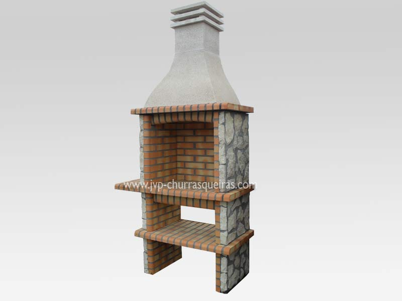 BBQ Grill 125, Manufacture Garden Brick Barbecue Grill - BBQ in refractory bricks, Brick barbecues Grill, BBQ nice price, Cheap BBQ, churrasqueiras, Outdoor Barbecue Grill, charcoal barbecue grill, outdoor barbecue grills, charcoal grill, Barbecue and Pizza Oven, Barbecue Grill, Churrasqueiras, bbq with bricks