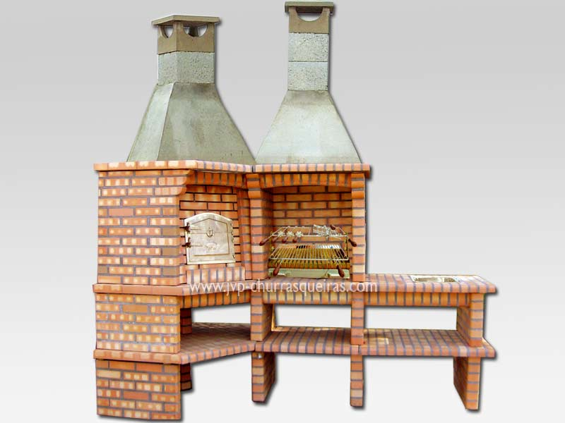 Fabricante de Churrasqueiras em Tijolos, Barbacoas de Obra, Barbecues, whith oven, com forno, Grill, bbq, Churrasqueira 30