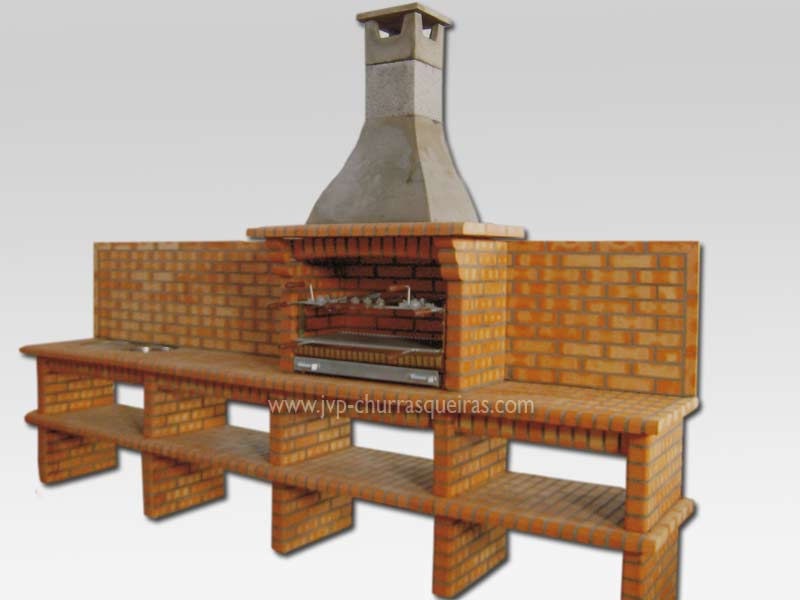 Très Brick Barbecue 38, BBQ Grill, brick Barbecues, ChurrasqueiraJVP  RL11
