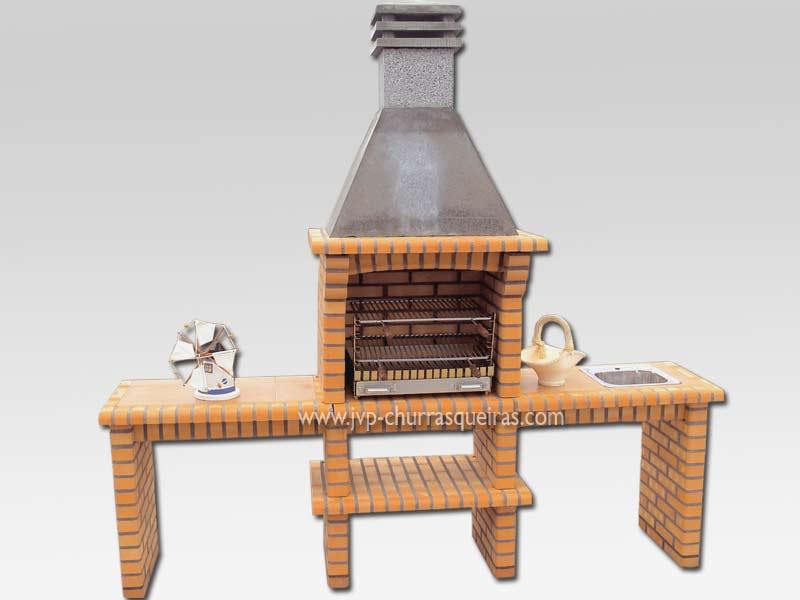 Churrasqueira com bancadas e paredes de tijolos, Barbecues, Churrasqueiras, Bons preços, Barbacoas, made in Portugal, churrasqueira 50