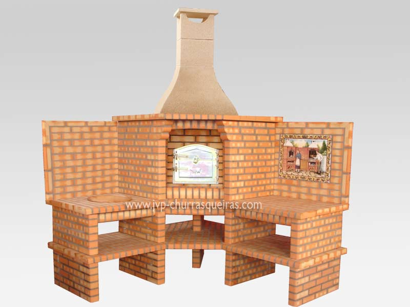 Brick Barbecue 68, Oven, Manufacture Garden Brick Barbecue Grill, BBQ in refractory bricks, Brick barbecues Grill, BBQ, churrasqueiras, Outdoor ovens, outdoor barbecue grills, Pizza Oven, Barbecue Grill, Churrasqueiras, bbq with bricks