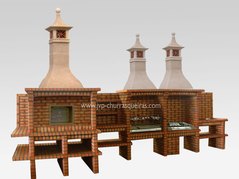 Brick Barbecue 86, BBQ with Oven, Manufacture Garden Brick Barbecue Grill, BBQ in refractory bricks, Brick barbecues Grill, BBQ, churrasqueiras, Outdoor Barbecue Grill, charcoal barbecue grill, outdoor barbecue grills, charcoal grill, Barbecue and Pizza Oven, Barbecue Grill, Churrasqueiras, bbq with bricks