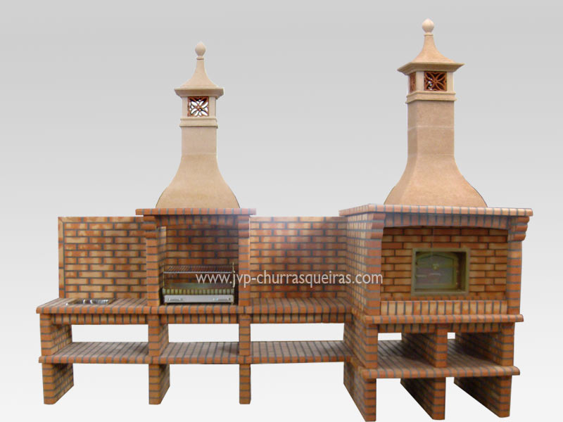 Brick Barbecue 97, BBQ with Oven, Manufacture Garden Brick Barbecue Grill, BBQ in refractory bricks, Brick barbecues Grill, BBQ, churrasqueiras, Outdoor Barbecue Grill, charcoal barbecue grill, outdoor barbecue grills, charcoal grill, Barbecue and Pizza Oven, Barbecue Grill, Churrasqueiras, bbq with bricks