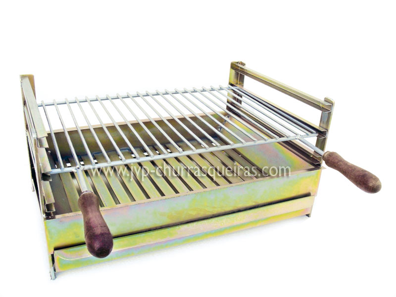 Grill in zincked iron with grid, Manufacturer of barbecues, barbecues bricks manufacturers. Portuguese manufacturer. Masonry Barbecues, BBQ grills, utensils for ovens