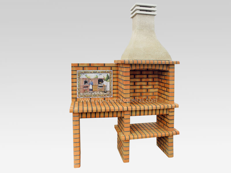 BBQ Grill 211-A, Manufacture Barbecue Grill, BBQ in refractory bricks, Brick barbecues Grill, Outdoor Barbecue Grill, Brick barbecue grill, Garden barbecue grills, charcoal grill, Barbecue Grill, Churrasqueiras, bbq with bricks