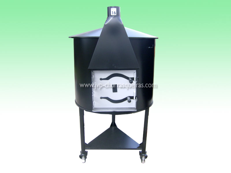 Oven 26, mobile furnaces, Clay and Metal, with chimney, Manufacture Garden Brick Barbecue Grill, Brick ovens, manufacturers, ovens manufacturer