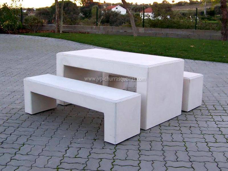 Mesas de Jardim, Mesa 103, Mesas, merendas, bancos, mesas para parques de merendas, mesas cimento, betão, pedra, mesa retangular