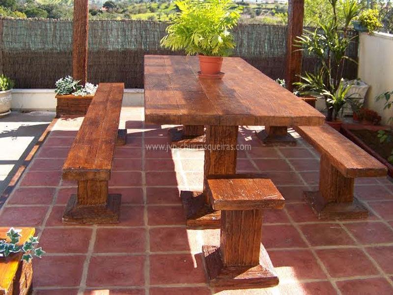 Mesas de Jardim, Mesa 105, Mesas, merendas, bancos, Mesas de betão imitar madeira, mesas para parques de merendas, mesas cimento, jardim