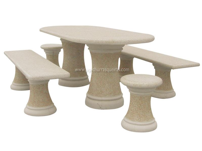 Mesas de Jardim, Mesa 106, Mesas, merendas, bancos, Mesas de betão britadas, mesas para parques de merendas, mesas britadas, mesas cimento, jardim